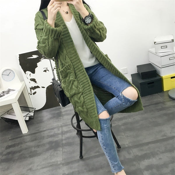 Chunky Pocket Cardigan (3 Colors)