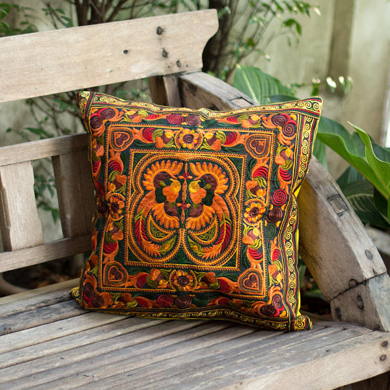 Hmong Embroidered Cushion Cover