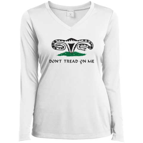 Don't Tread On Me Ladies Long Sleeve Vneck