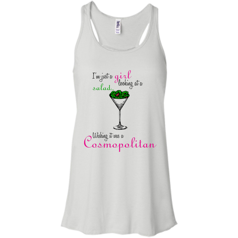 I'm Just A Girl...Cosmo Flowy Racerback Tank