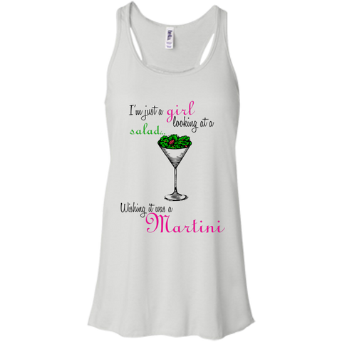I'm Just A Girl...Martini Flowy Racerback Tank