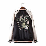Floral Pink Reversible Bomber Jacket - Alpha Style Co. - 3