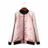 Floral Pink Reversible Bomber Jacket - Alpha Style Co. - 4