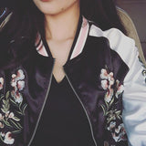 Floral Pink Reversible Bomber Jacket - Alpha Style Co. - 8