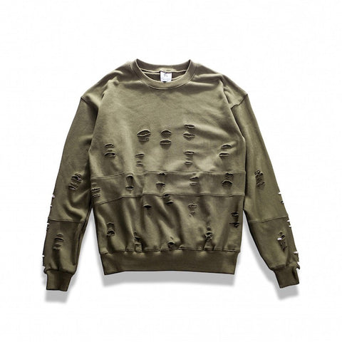 Destroyed Streetwear Sweater - PREMIUM