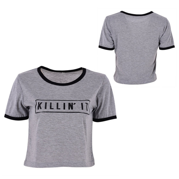 Killin It Letter Crop Top
