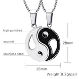 Yin Yang Pendant Necklace Set