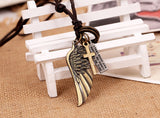**Best Seller** Vintage Angel Wing Pendant - Premium Leather