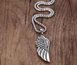 Lavish Feather Angel Wing Pendant Necklace