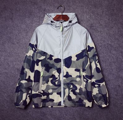 Reflective Camouflage Windbreaker - Alpha Style Co.