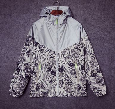 Reflective Tiger Print Windbreaker - Alpha Style Co.