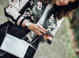 Floral Pink Reversible Bomber Jacket - Alpha Style Co. - 7