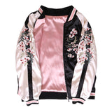 Floral Pink Reversible Bomber Jacket - Alpha Style Co. - 5