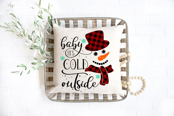 "Baby It's Cold Outside- Square Pillow Cover | 18""x18"" - Beyond Measure Living"