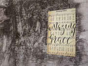 Amazing Grace Hand Lettered Calligraphy Sheet Music - Beyond Measure Living
