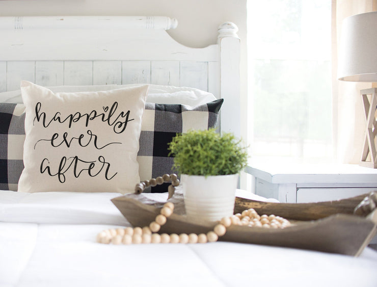 "Happily Ever After Cover-Square Pillow Cover | 18""x18"" - Beyond Measure Living"