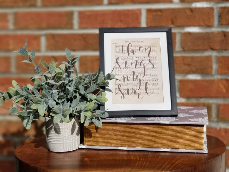 How Great Thou Art | Hand Lettered Sheet Music | 5x7, 8x10, or 11x14 - Beyond Measure Living