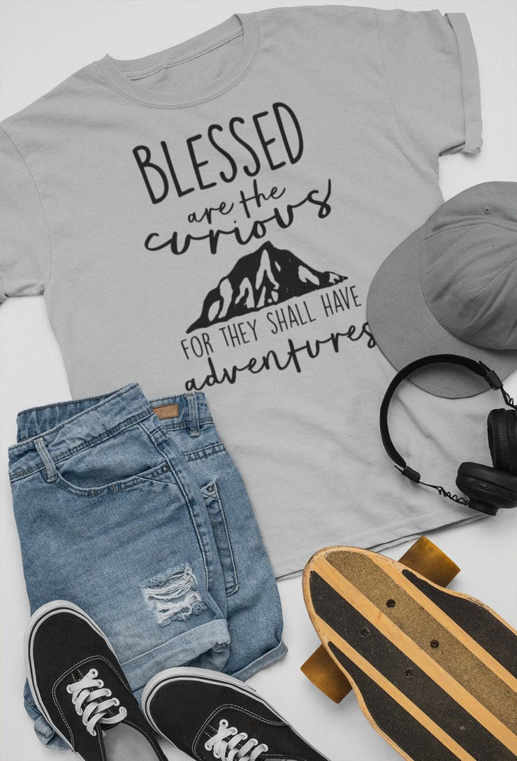 Blessed Are The Curious For They Shall Have Adventures | Mountain Scene - Beyond Measure Living