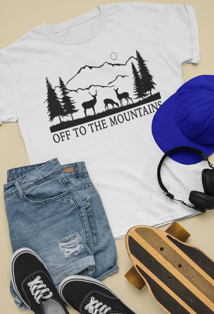 Off To The Mountains Shirt | Camp | Hike | Fish | Hunt | Wildlife | Men | Women - Beyond Measure Living