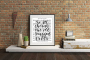 The Old Rugged Cross Hand Lettered Sheet Music | 5x7, 8x10, or 11x14 - Beyond Measure Living