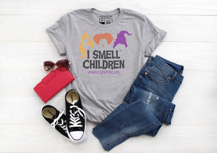 Hashtag Hocus Pocus Shirt - I Smell Children - Cute Funny Halloween Shirt | Autumn Fall - Beyond Measure Living