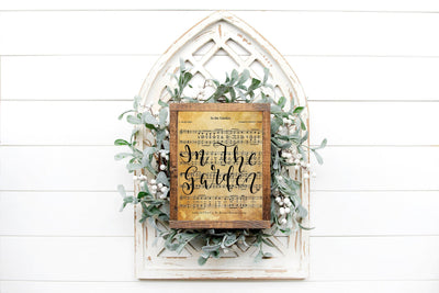 In The Garden Hand Lettered Sheet Music Song | 5x7, 8x10, or 11x14 - Beyond Measure Living