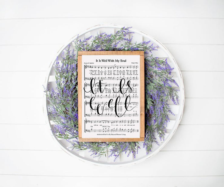 It Is Well With My Soul Hand Lettered Sheet Music | 5x7, 8x10, or 11x14 - Beyond Measure Living