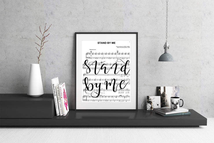 Stand By Me - Hand Lettered Sheet Music | 5x7, 8x10, or 11x14 - Beyond Measure Living