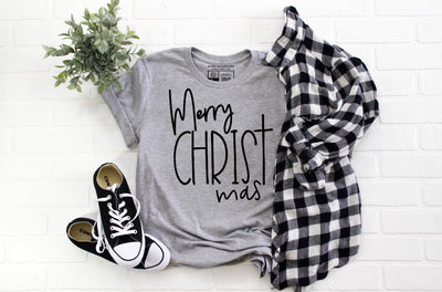 Merry CHRISTmas T-Shirt | Christ Jesus God Christmas Tee - Beyond Measure Living