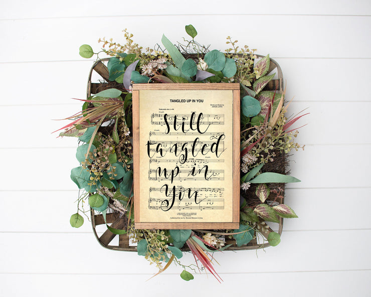 Tangled Up In You - Staind Hand Lettered Sheet Music | 5x7, 8x10, or 11x14 - Beyond Measure Living