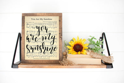 You Are My Sunshine Hand Lettered Sheet Music | 5x7, 8x10, or 11x14 - Beyond Measure Living
