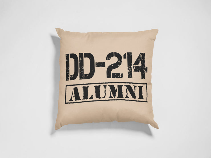 "DD-214 Throw Pillow | Natural | 18""x18"" - Beyond Measure Living"
