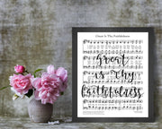 Great Is Thy Faithfulness | Calligraphy Sheet Music | 5x7, 8x10, or 11x14 - Beyond Measure Living
