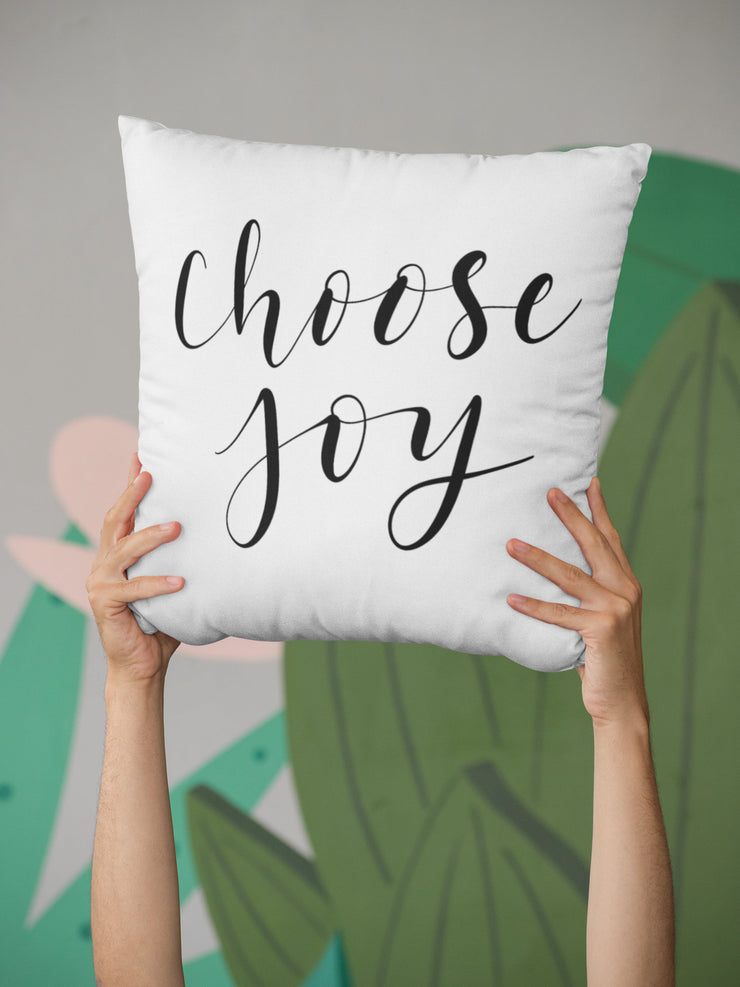 "Choose Joy - Square Pillow Cover | 18""x18"" - Beyond Measure Living"
