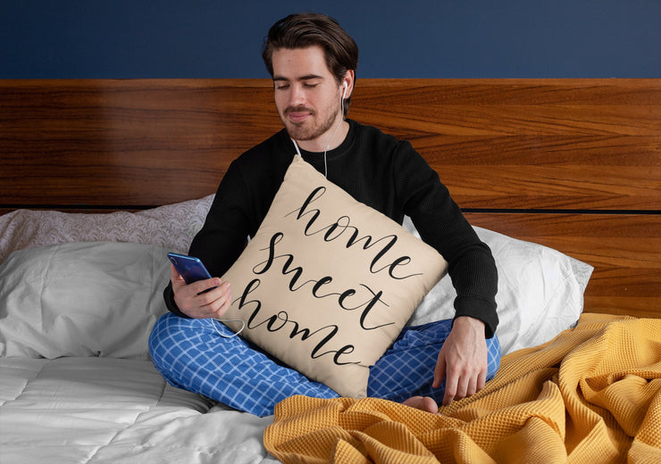 "Home Sweet Home- Square Pillow Cover | 18""x18"" - Beyond Measure Living"