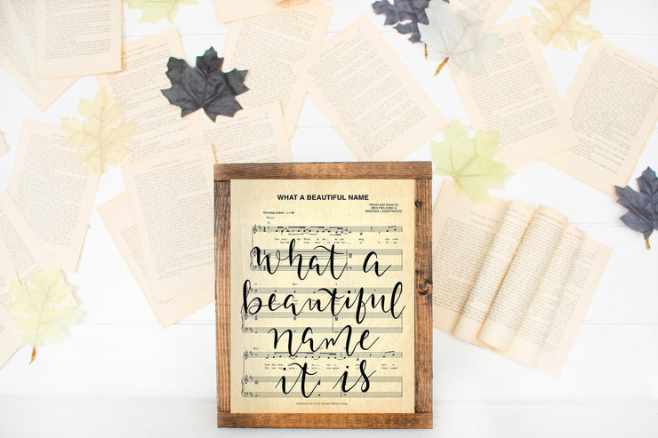 What A Beautiful Name It Is - Hand Lettered Sheet Music | - Beyond Measure Living