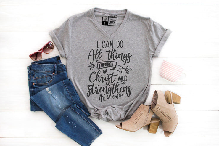 I Can Do All Things Through Christ Who Strengthens Me T-Shirt - Beyond Measure Living