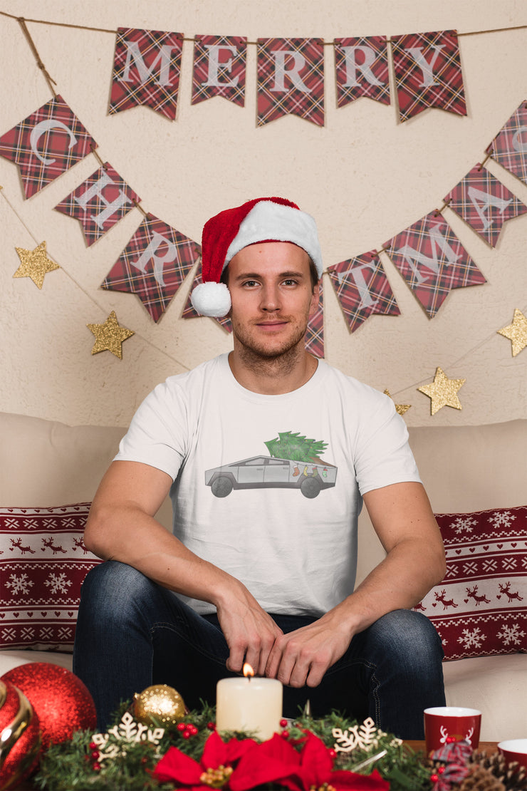 Cyber Truck Christmas Shirt | Christmas Tree Truck Funny Holiday Tee - Beyond Measure Living