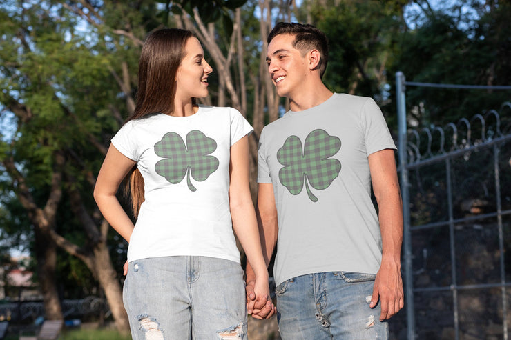 Green and Black Plaid Shamrock T-Shirt - Beyond Measure Living