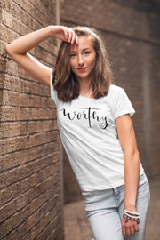 Worthy of the Cross Shirt | Hand Lettered Christian T-Shirt | - Beyond Measure Living