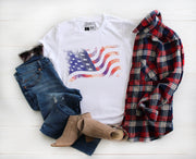 American Flag Distressed Shirt - Beyond Measure Living