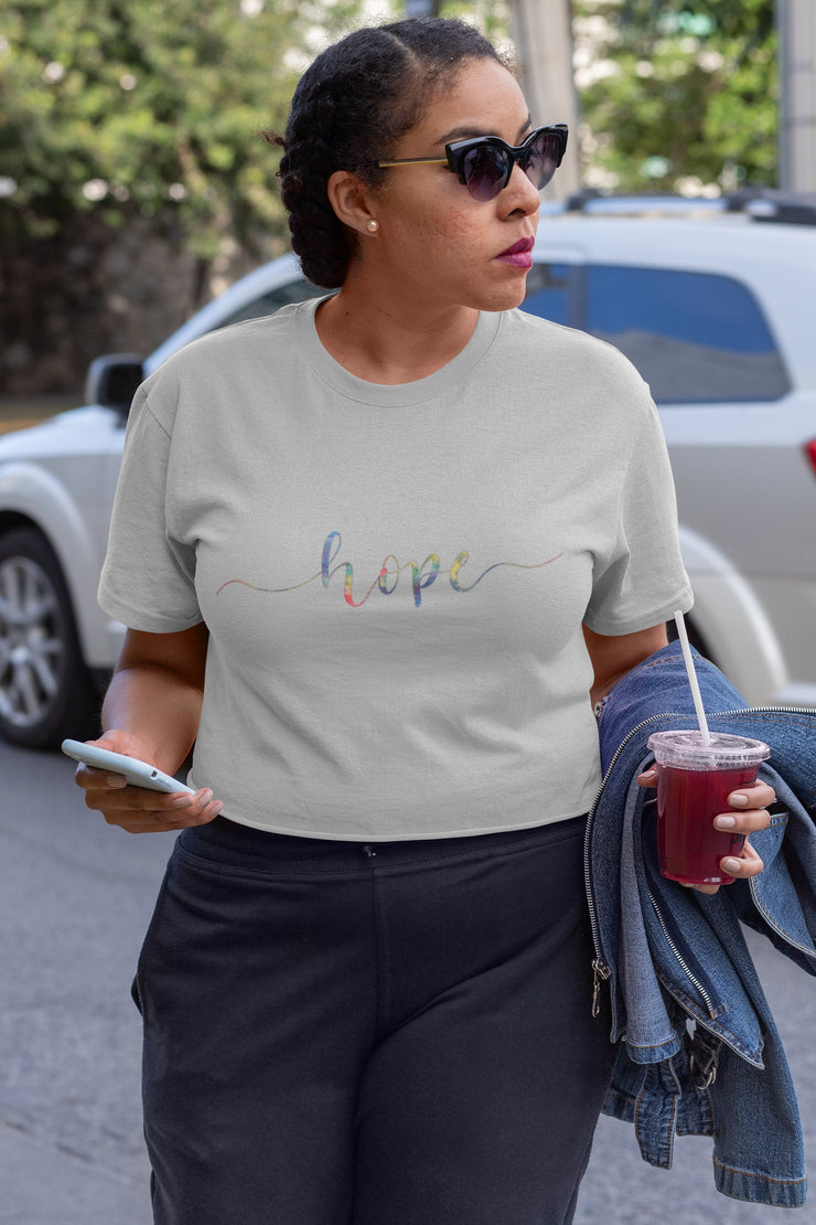 Colorful Hope Shirt | Hand Lettered Calligraphy - Beyond Measure Living