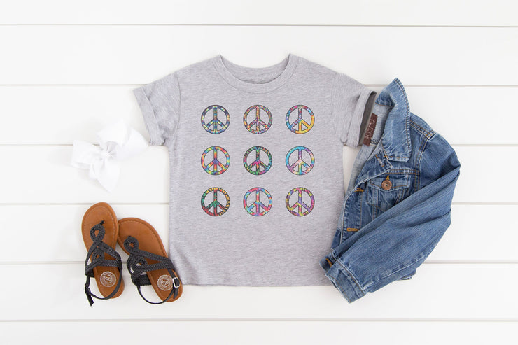 Colorful Peace Signs Shirt - Beyond Measure Living