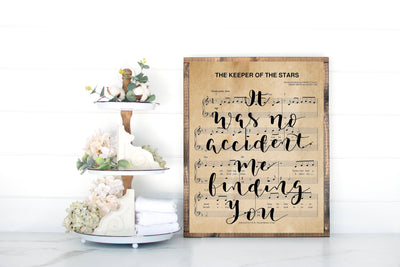 The Keeper Of The Stars - Hand Lettered Sheet Music | 5x7, 8x10, or 11x14 | - Beyond Measure Living