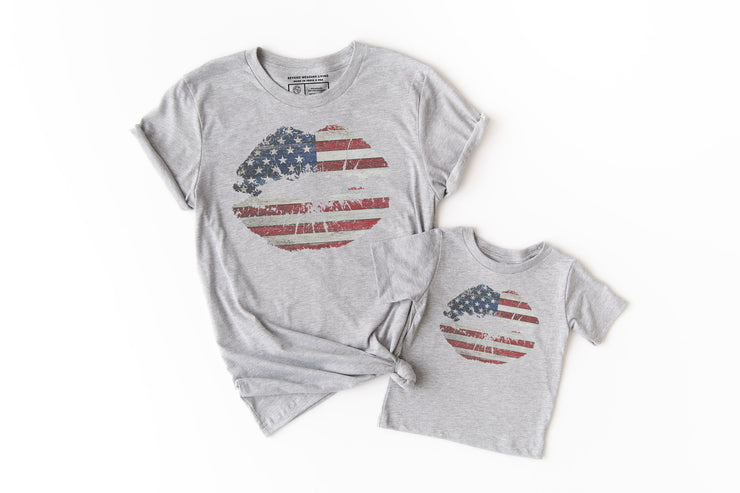 American Flag Lips Shirt - Beyond Measure Living