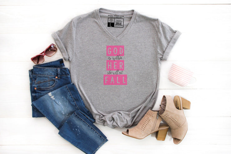 God is Within Her She Will Not Fall Shirt | Psalm 46:5 - Beyond Measure Living