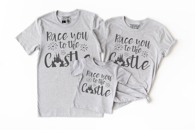 Race You To The Castle Shirt | Mickey Minnie Disney Tee - Beyond Measure Living