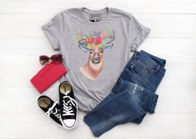 Floral Stag Buck Shirt - Beyond Measure Living