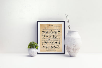 My Wish - Hand Lettered Sheet Music | 5x7, 8x10, or 11x14 | - Beyond Measure Living