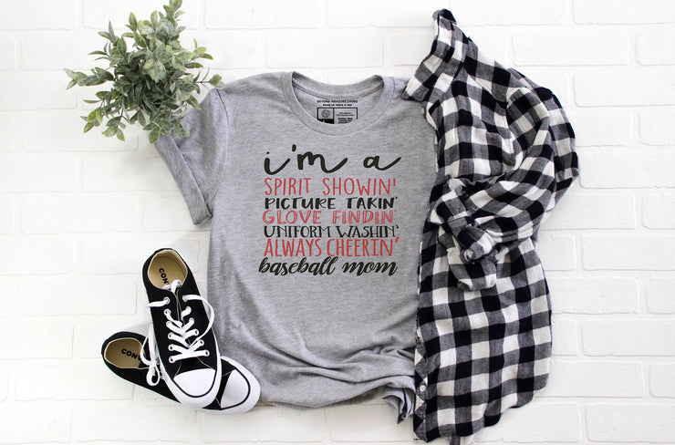 I'm A Baseball Mom T-Shirt - Beyond Measure Living